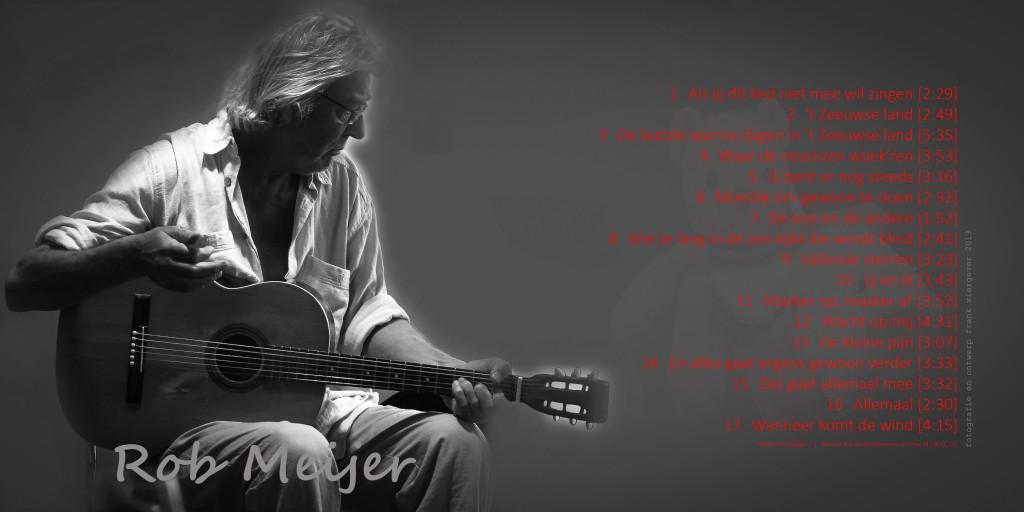 Originele print in kleine oplage (25) genummerd en gesigneerd als Cd-hoes voor de CD met Nederlandse teksten en muziek van Rob Meijer. Te koop tijdens de finnisage van Made in Vlissingen op 7 april 2013 in deWillem3, Vlissingen